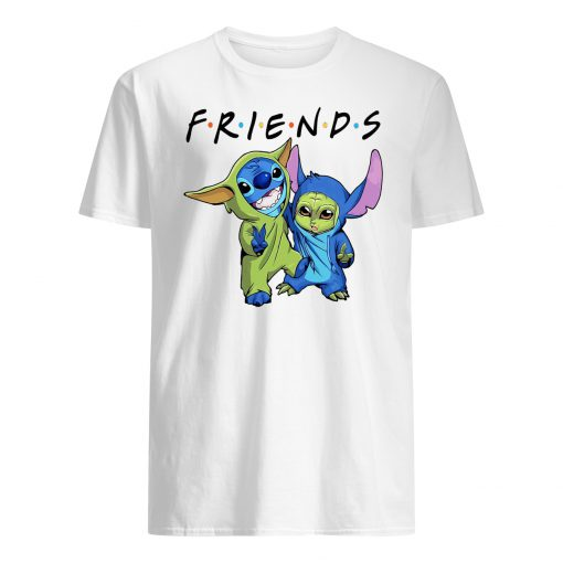 Baby stitch and baby yoda friends star wars mens shirt