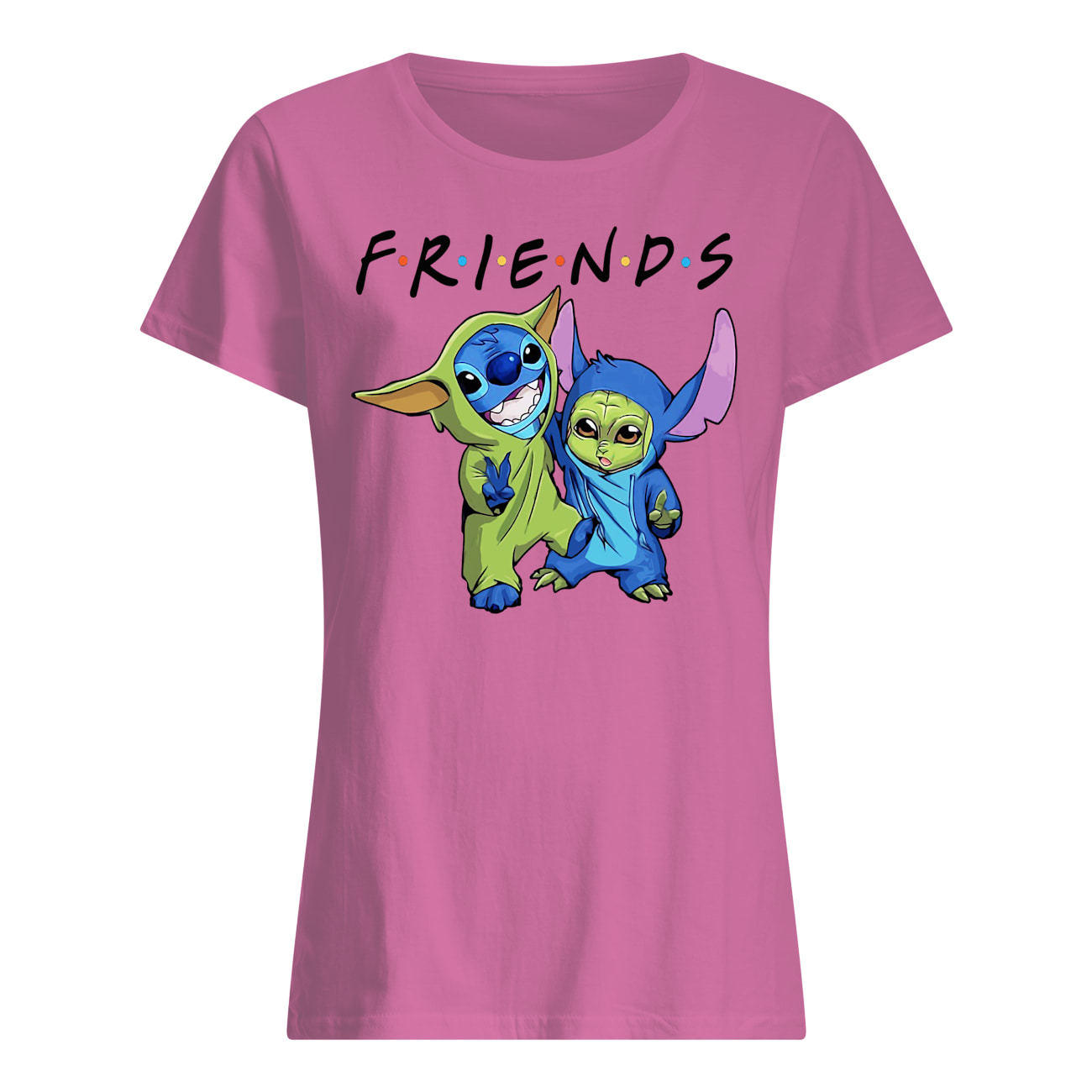 Baby stitch and baby yoda friends star wars womens shirt