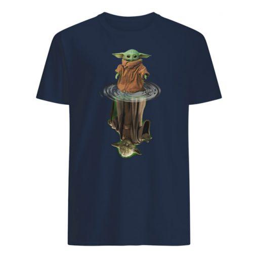Baby yoda and master yoda water reflection star wars mens shirt