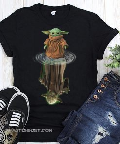 Baby yoda and master yoda water reflection star wars shirt