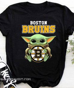 Baby yoda hug boston bruins shirt