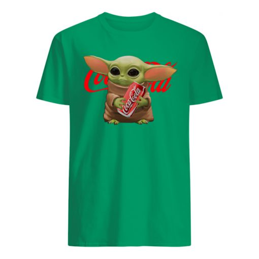 Baby yoda hug coca cola mens shirt