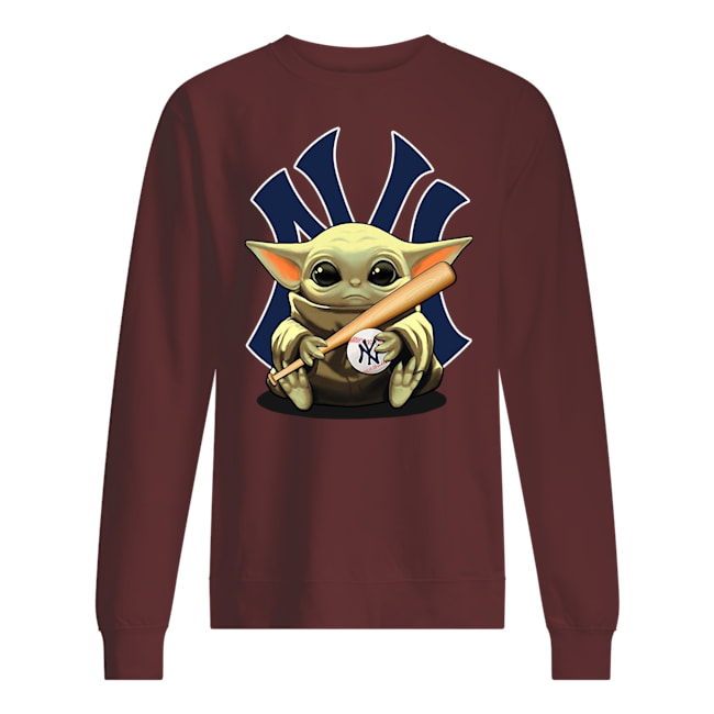 Baby yoda hug new york yankees sweatshirt