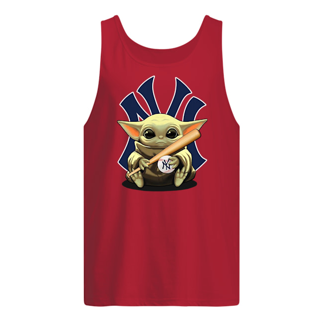 Baby yoda hug new york yankees tank top
