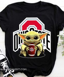 Baby yoda hug ohio state buckeyes shirt