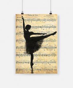 Ballerina valse et trio dancing framed poster 4
