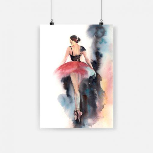 Ballet for life ballet dancer ballerina watercolor painting poster 1