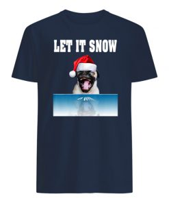 Cocaine bulldog let it snow christmas mens shirt
