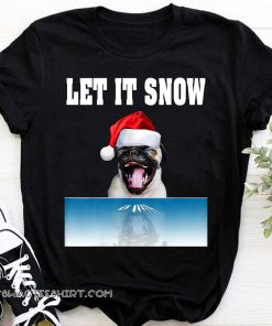 Cocaine bulldog let it snow christmas shirt