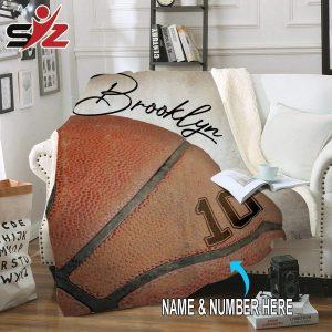 Custom blankets basketball name and number 2