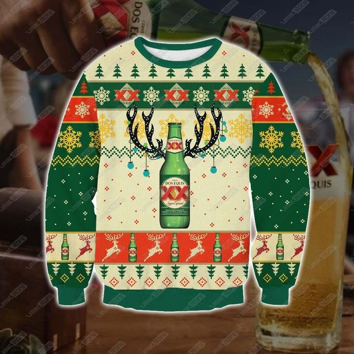 Dos equis beer full printing ugly christmas sweater 3
