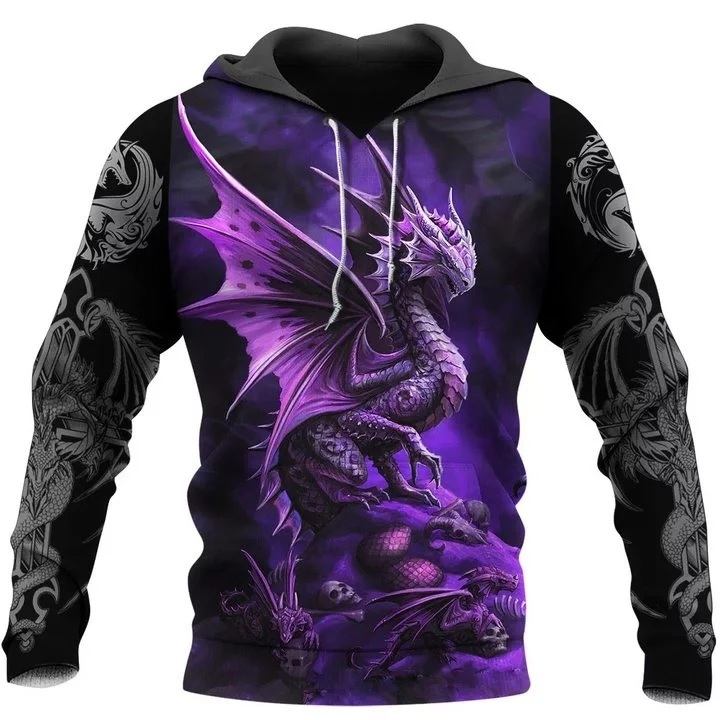 Dungeons and dragons all over printed hoodie