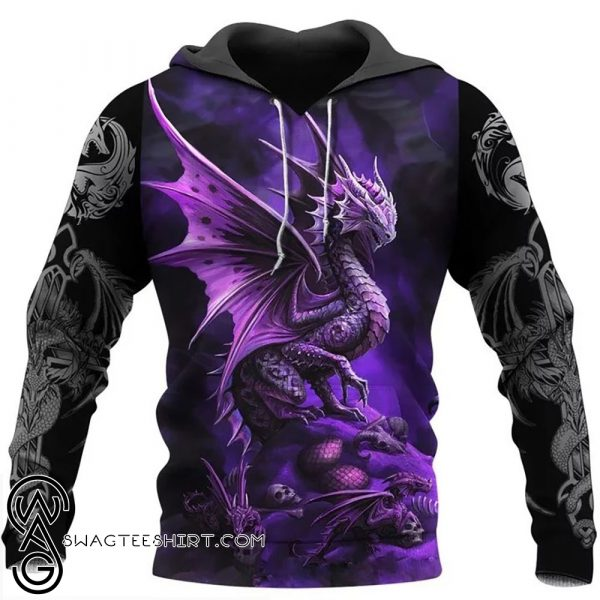 Dungeons and dragons all over printed shirt