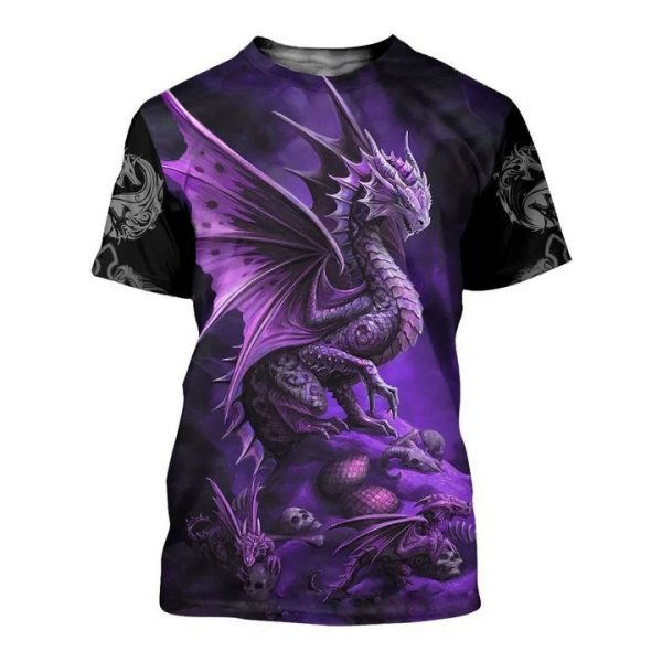 Dungeons and dragons all over printed tshirt