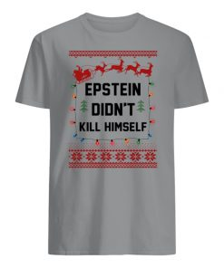 Epstein didn't kill himself holiday ugly christmas mens shirt