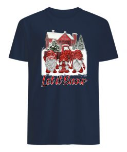 Gnomes let it snow christmas mens shirt