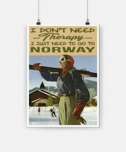 I don't need therapy i just need to go to norway poster 1