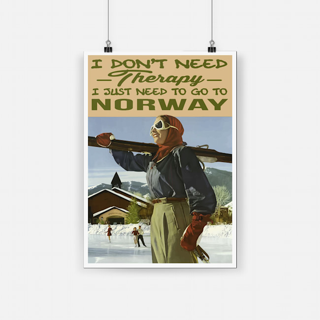 I don't need therapy i just need to go to norway poster 2