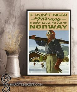 I don't need therapy i just need to go to norway poster