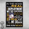 In this house we are real we are brave american army poster