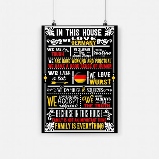 In this house we love germany poster 1