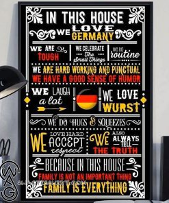 In this house we love germany poster