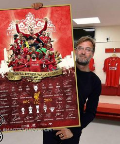 Liverpool fc you'll never walk alone poster