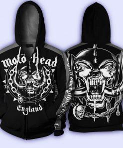 Motorhead all over printed zip hoodie