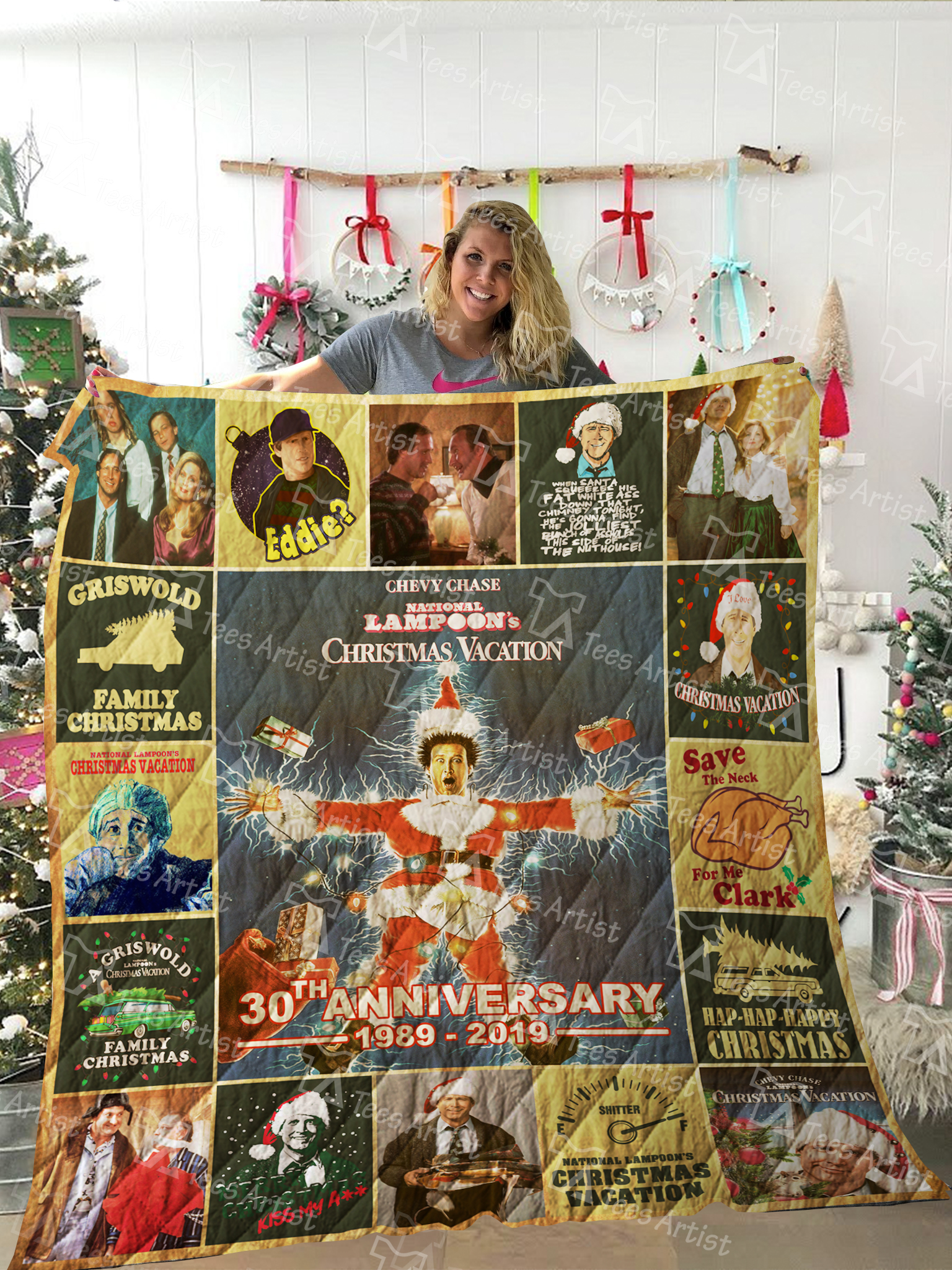 National lampoon's christmas vacation 30th anniversary quilt 3