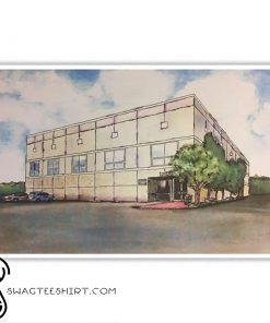 Pam beesly office building dunder mifflin poster
