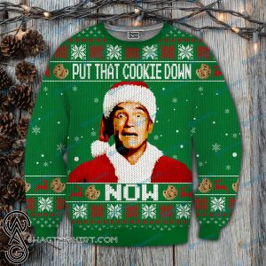 Put that cookie down now kindergarten cop full printing ugly christmas sweater