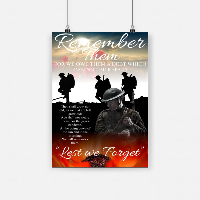 Red poppy flower for remembrance day poster 1