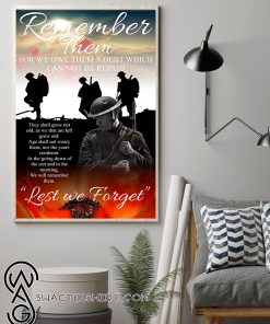 Red poppy flower for remembrance day poster