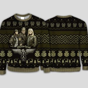 Rock band motorhead ugly christmas sweater