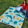 Sea life dolphin quilt
