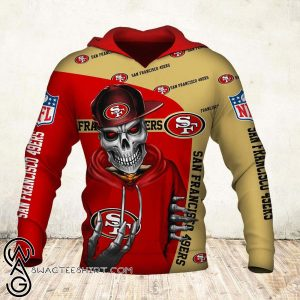 Skul san francisco 49ers all over print shirt