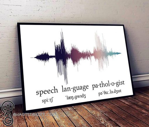 Speech language pathologist voice horizontal poster