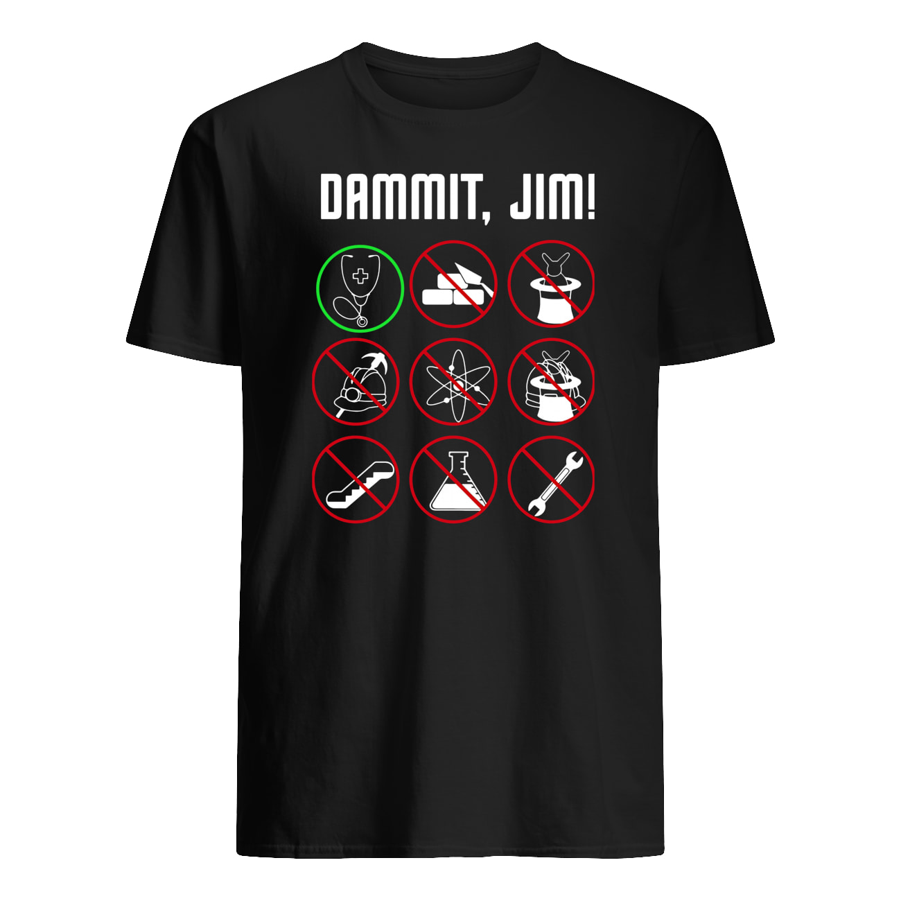 Star trek movie dammit jim mens shirt