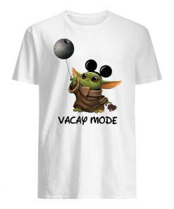 Star wars baby yoda mickey mouse vacay mode mens shirt