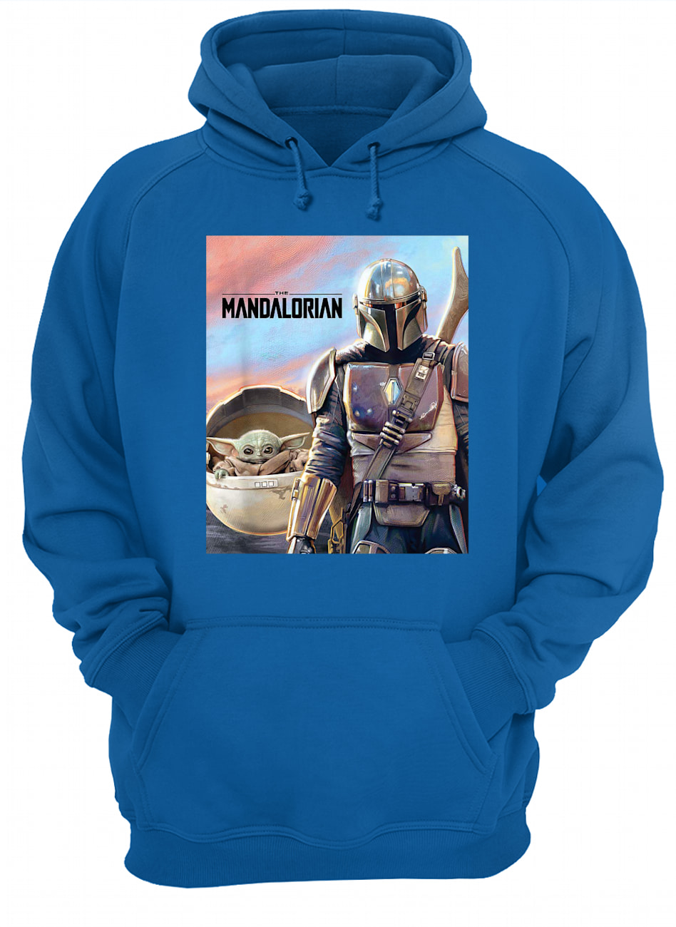 Star wars the mandalorian the child painting hoodie