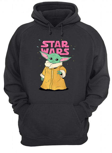 Star wars the mandalorian the child pink bubble letters hoodie
