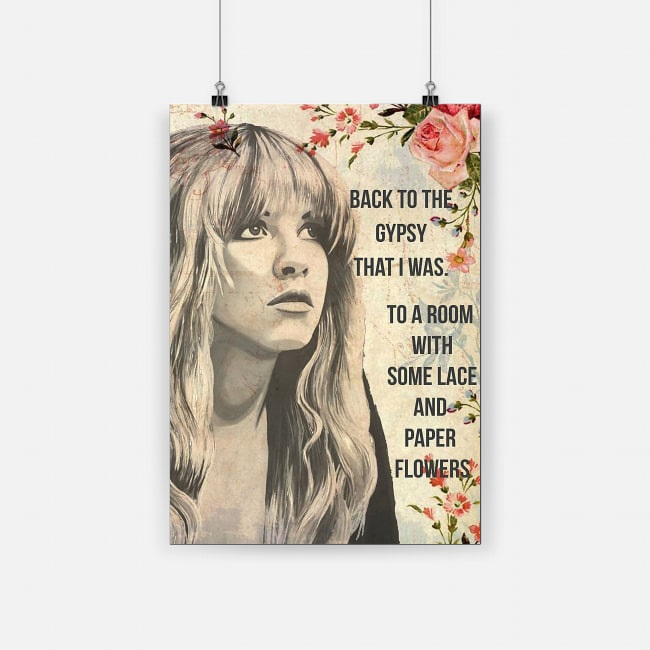 Stevie nicks back to the gypsy that i was poster 2