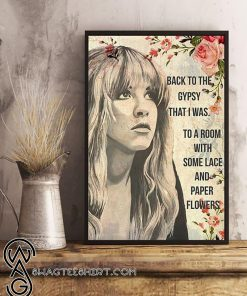 Stevie nicks back to the gypsy that i was poster