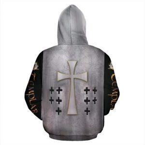 Templar cross viking all over print hoodie 1