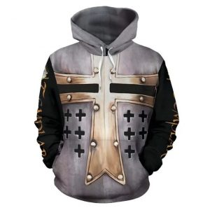 Templar cross viking all over print hoodie 2
