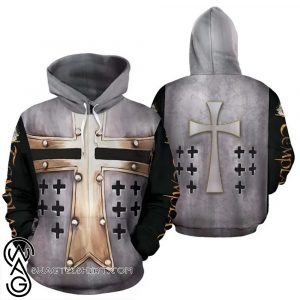 Templar cross viking all over print shirt