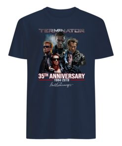Terminator 35th anniversary 1984 2019 signature mens shirt