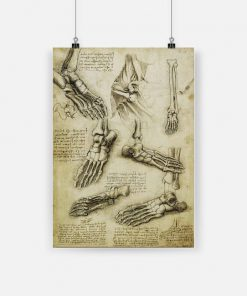 The nature of the human body leonardo da vinci poster 1
