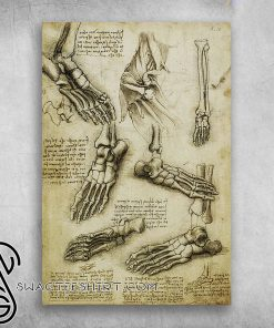 The nature of the human body leonardo da vinci poster