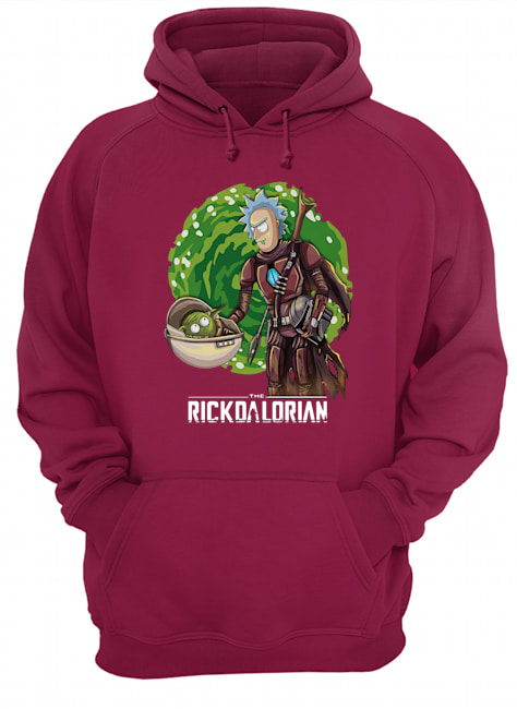 The rickdalorian baby yoda and rick hoodie